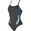 arena Fingerprint One Piece Swimsuit Women asphalt